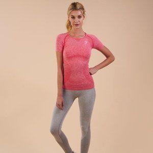 Gymshark Seamless T-Shirt Short Sleeve Marl Pink